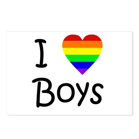 I Love Boys (script) Postcards (Package of 8)