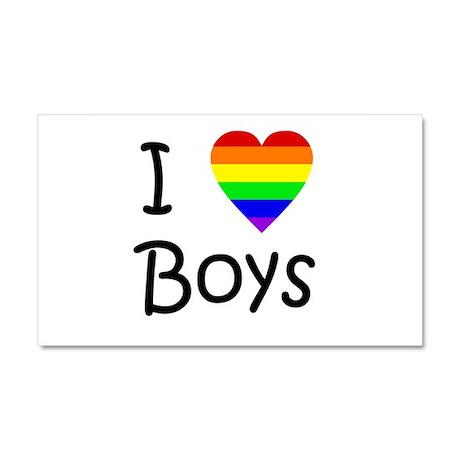 I Love Boys (script) Car Magnet 20 x 12