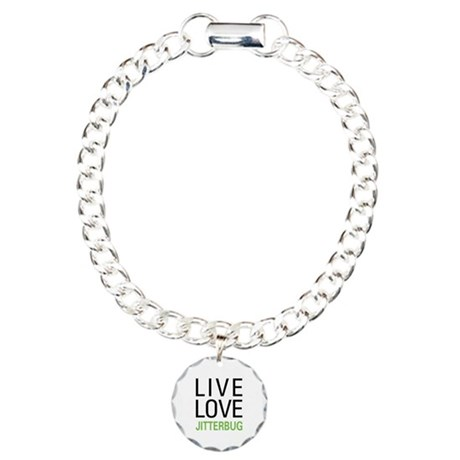 Live Love Jitterbug Charm Bracelet, One Charm