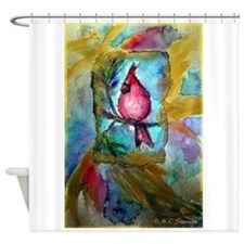 Cardinal, bird, art! Shower Curtain
