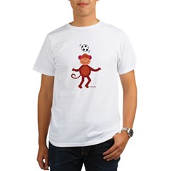 Monkey at Soccer - Head Bounce T-Shirt