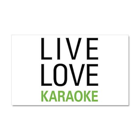 Live Love Karaoke Car Magnet 20 x 12