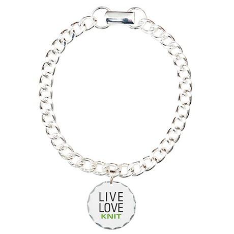 Live Love Knit Charm Bracelet, One Charm