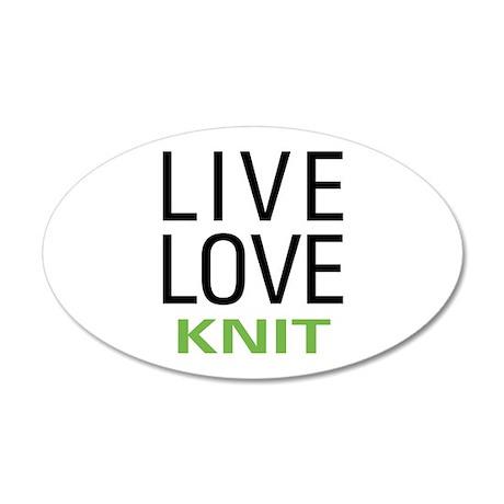 Live Love Knit 38.5 x 24.5 Oval Wall Peel