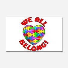We All Belong Car Magnet 20 x 12