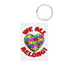 We All Belong Aluminum Photo Keychain