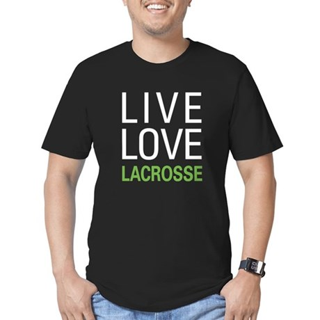 Live Love Lacrosse Men's Fitted T-Shirt (dark)