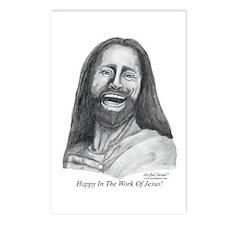 JJ- Happy in the Work of Jesu Postcards (Package o