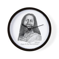 JJ- Happy in the Work of Jesu Wall Clock
