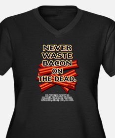 Never Waste Bacon On The Dead Women's Plus Size V-