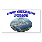 NOPD Badge in the Sky Sticker (Rectangle 10 pk)