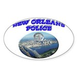 NOPD Badge in the Sky Sticker (Oval 50 pk)