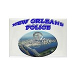 NOPD Badge in the Sky Rectangle Magnet (10 pack)