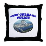 NOPD Badge in the Sky Throw Pillow