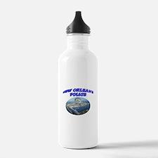 NOPD Badge in the Sky Water Bottle