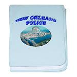 NOPD Badge in the Sky baby blanket