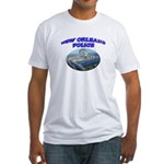 NOPD Badge in the Sky Fitted T-Shirt