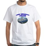NOPD Badge in the Sky White T-Shirt