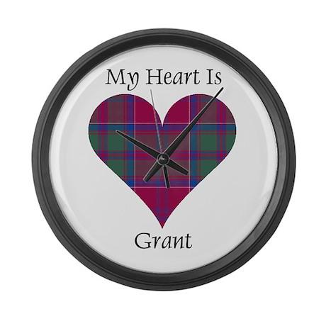 Heart - Grant Large Wall Clock