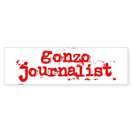 Gonzo Journalist Sticker (Bumper)