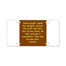 victor hugo quote Aluminum License Plate