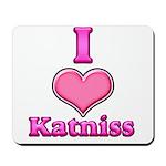 I Heart Katniss 1 Mousepad
