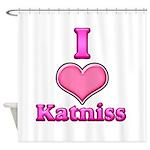 I Heart Katniss 1 Shower Curtain