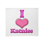 I Heart Katniss 1 Throw Blanket