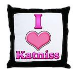 I Heart Katniss 1 Throw Pillow