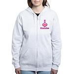 I Heart Katniss 1 Women's Zip Hoodie