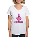 I Heart Katniss 1 Women's V-Neck T-Shirt