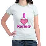 I Heart Katniss 1 Jr. Ringer T-Shirt