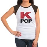 K pop Women's Cap Sleeve T-Shirt