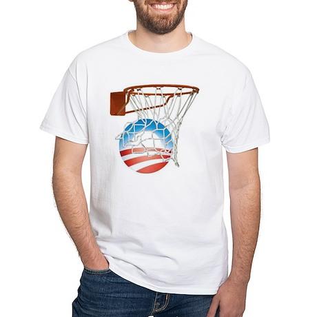 """Obama Scores in 2012!"" - White T-Shirt"