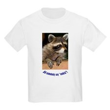 """Raccoon """"Did Somebody Say Cookie?"""" Kids T-Shirt"""