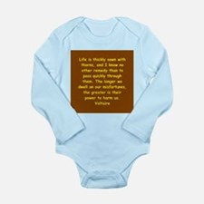 victor hugo quote Long Sleeve Infant Bodysuit