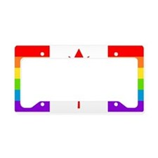 Canadian Gay Pride Flag License Plate Holder
