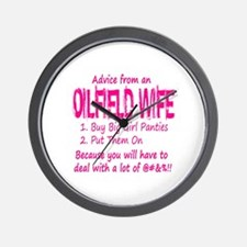 Advice from an Oilfield Wife Wall Clock