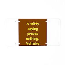 victor hugo quote Aluminum License Plate