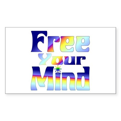 FREE Your Mind! Rectangle Sticker