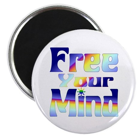 """FREE Your Mind! 2.25"""" Magnet (100 pack)"""