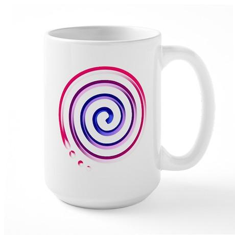 bi spiral Large Mug