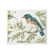 """EASTERN BLUEBIRD"" Throw Blanket"