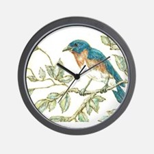 """EASTERN BLUEBIRD"" Wall Clock"