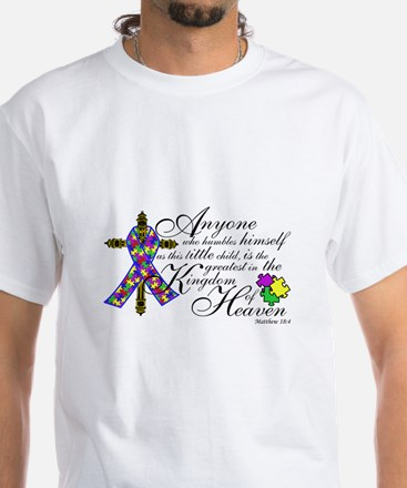 Customized Autism ribbon with Cross Shirt
