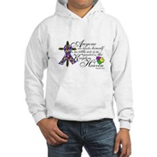 Autism ribbon with Cross Hoodie
