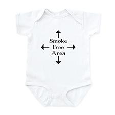 Smoke Free Area Infant Creeper