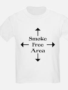 Smoke Free Area Kids T-Shirt