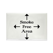 Smoke Free Area Rectangle Magnet