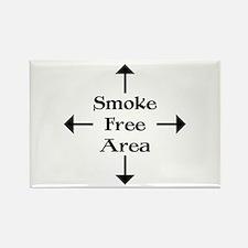 Smoke Free Area Rectangle Magnet